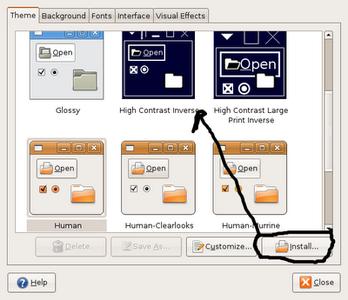 Installing Icons, Cursor, GTK.