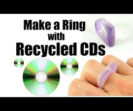 Make a Ring With Recycled CDs