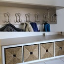 IKEA Style Coat Rack and Shoe Cabinet