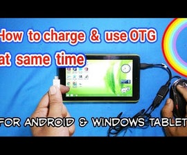 Charge & Use OTG at Same Time in Tablet Pc