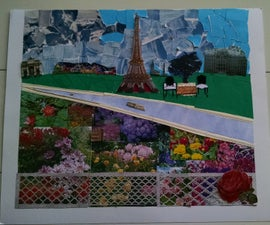 Paris the City of Lights (Mixed Media Collage)