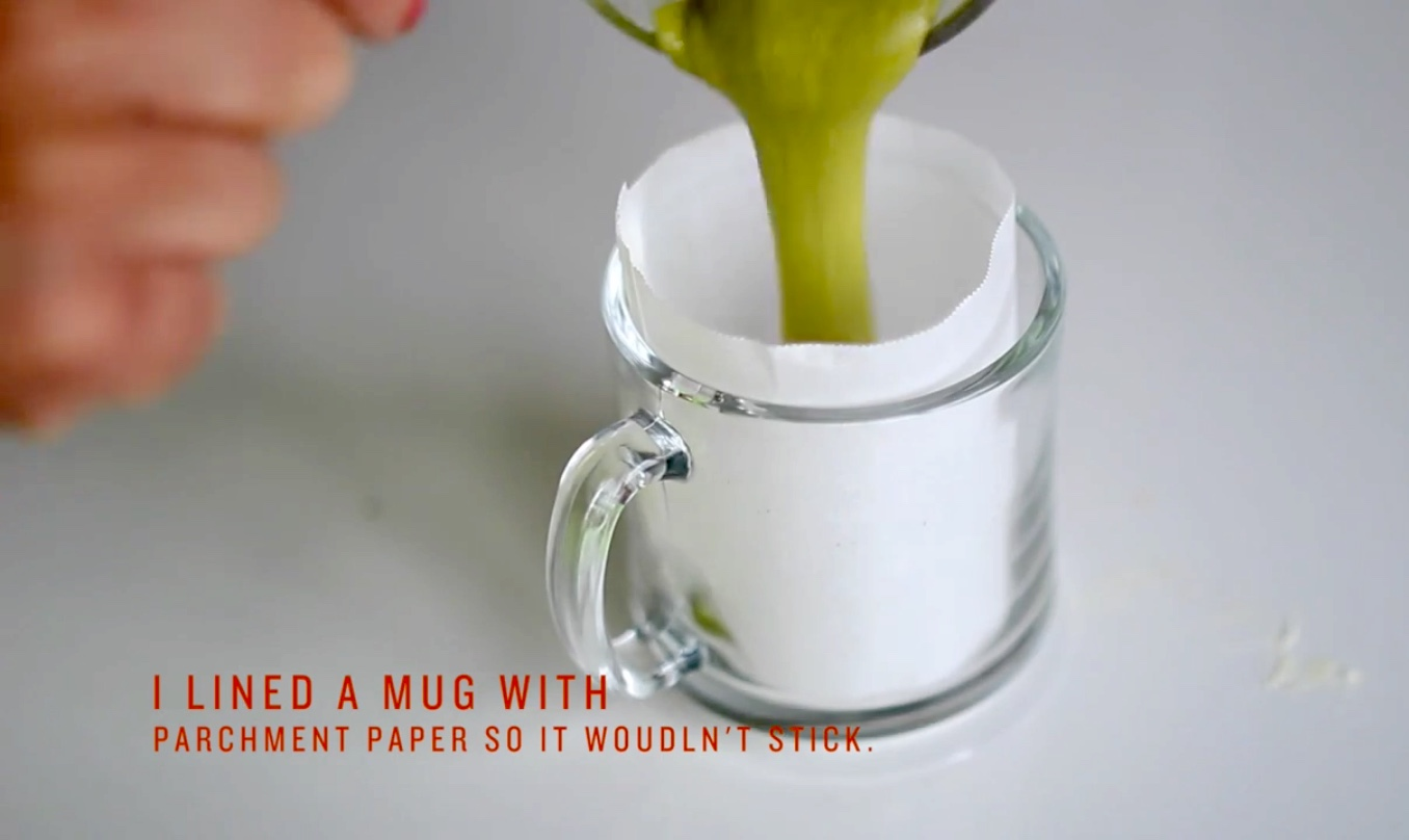 Picture of Line a Mug and Decant Your Ingredients