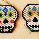 Sugar Skull Beaded Brick Stitch Pendant ¦ The Corner of Craft