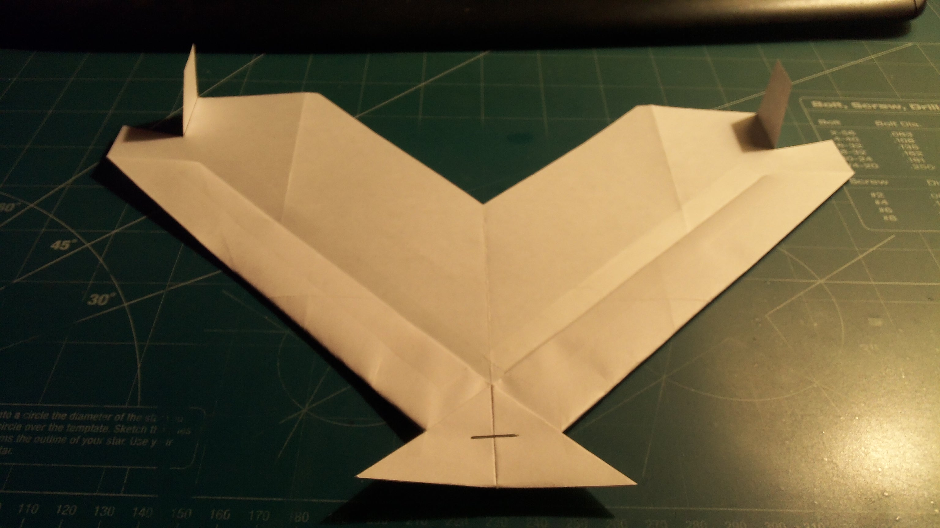 Picture of How to Make the Turbo Manta Paper Airplane