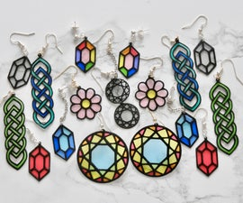 """Paper """"Stained Glass"""" Earrings"""