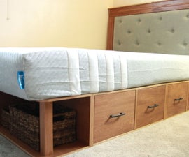 How to Make a Modular Queen Storage Bed
