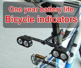 DIY Long battery life bicycle indicators