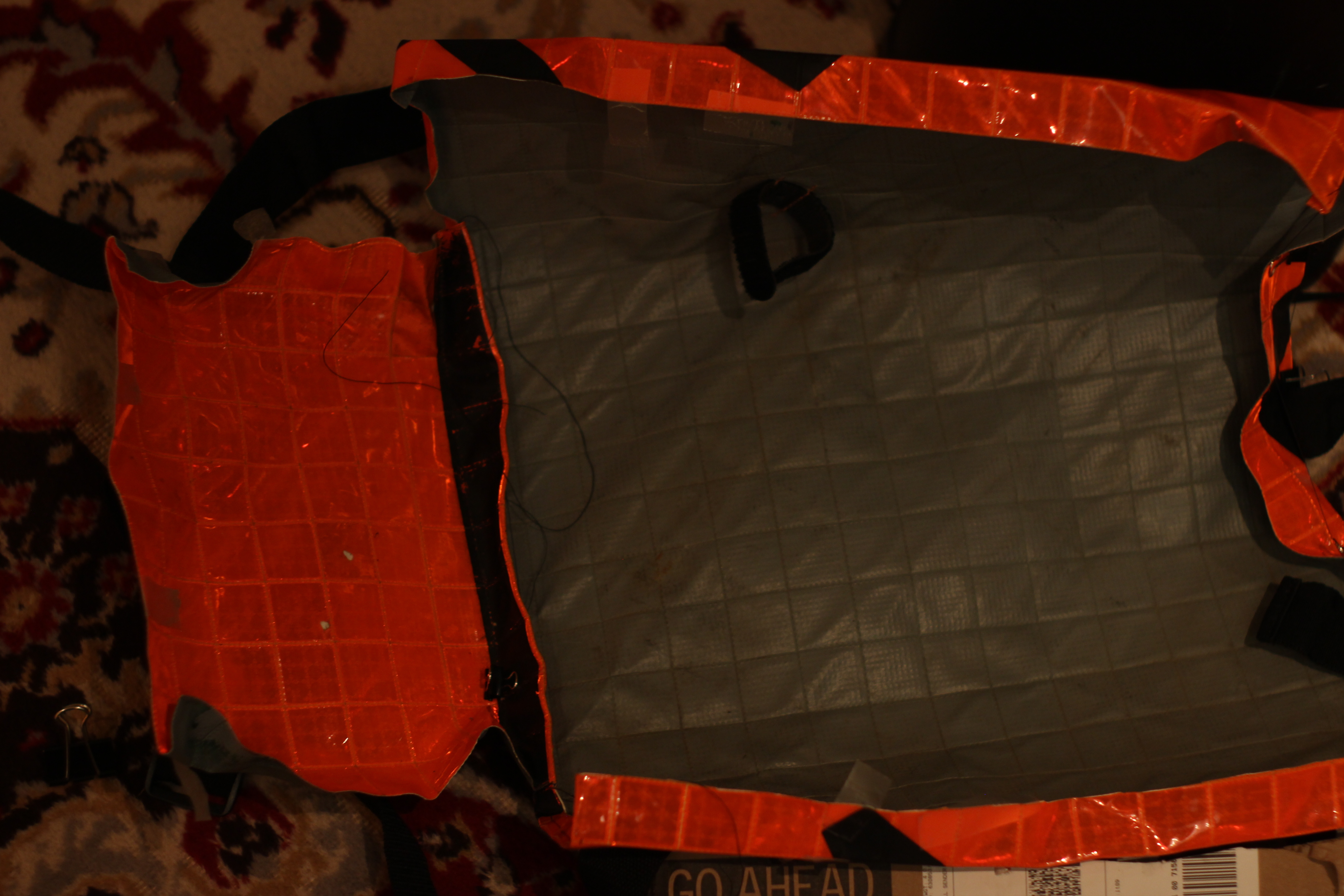 Picture of Sew Bottom to Front Panel