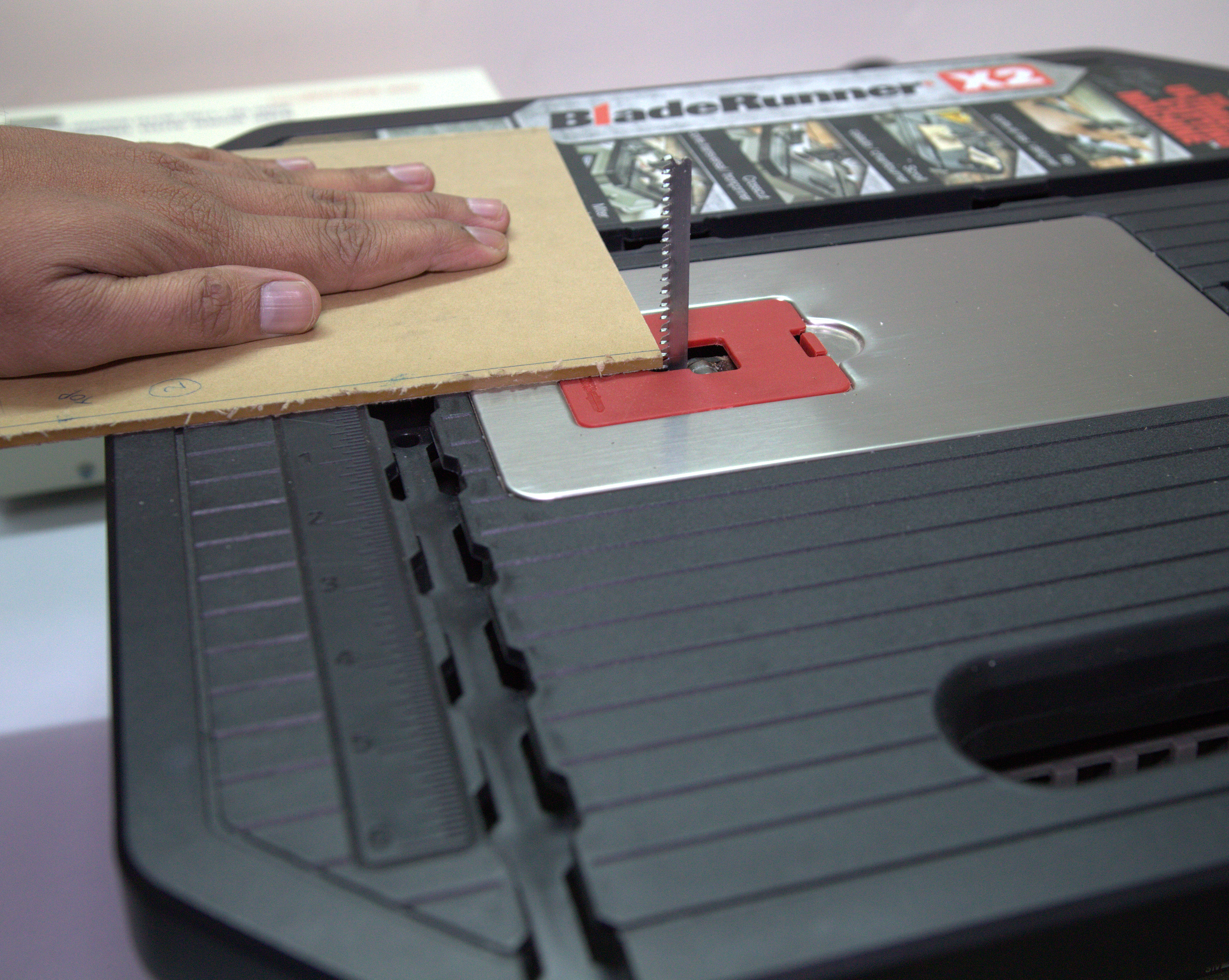 Picture of Cutting the Acrylic Sheets
