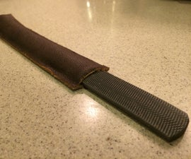 Cheap, Quick, and Easy Leather Sheath for File