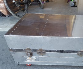 Steamer trunk to coffee table
