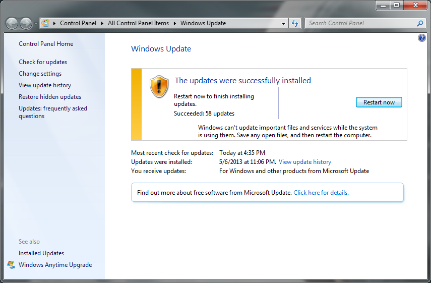 Picture of Make Sure Windows Is Up to Date
