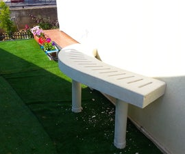 Curved Concrete Bench
