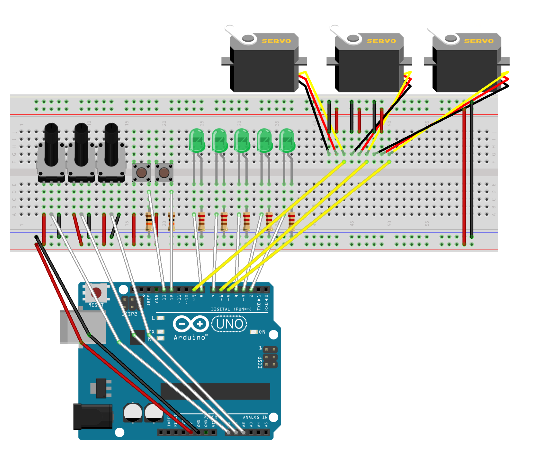 Picture of Build the Breadboard