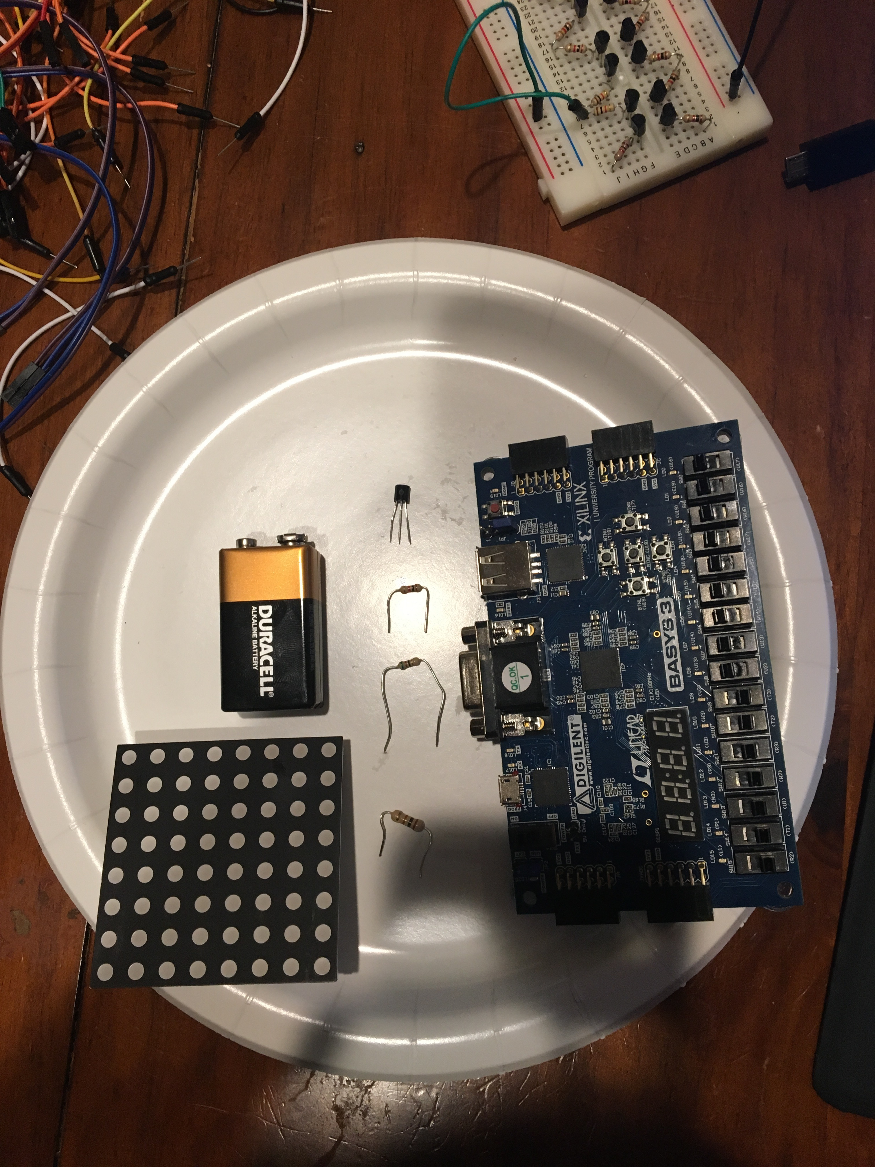 Picture of Mastermind With an 8x8 RGB LED Matrix