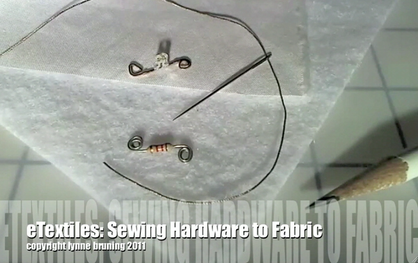 ETextiles: How to Sew LEDs and Resistors to Fabric