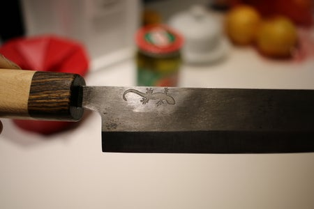 Finished Knife and Care of Knife