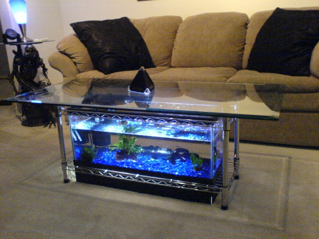 25 Gallon Aqua Coffee Table.Aquarium Coffee Table 7 Steps With Pictures