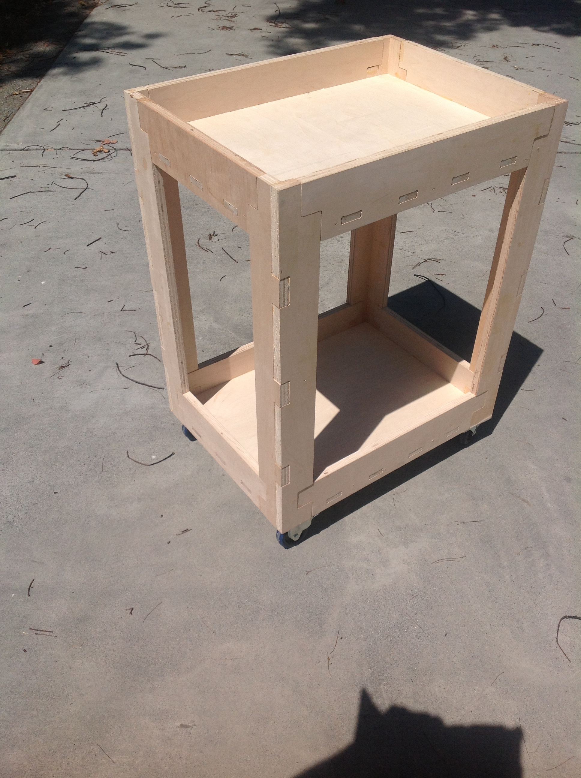 Picture of Plywood Shop Cart Made With CNC Router