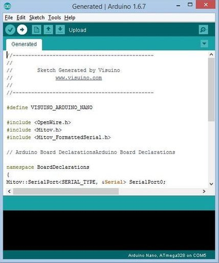 Picture of Generate, Compile, and Upload the Arduino Code