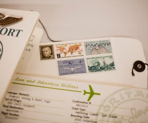 Plane Ticket Invitations, Passport Programs, and Luggage Tag Escort Cards