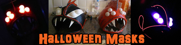 """Picture of """"Punk Vampire"""" and """"Scary Nemo"""" Halloween Masks"""