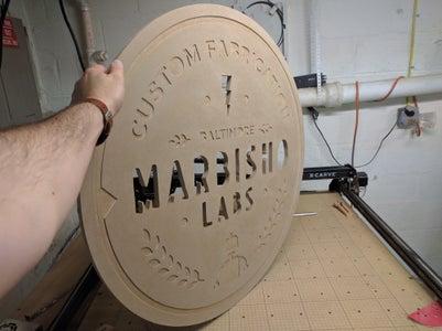 Shop Sign (CNC-cut and LED-backlit)