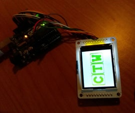 Displaying an image on a LCD TFT screen with Arduino UNO