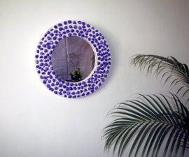 Purple Pebble Mirror. Upgrading a boring mirror.