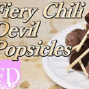 Dark chocolate Chili Devil Popsicles