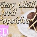 Dark chocolate Chili Devil Popsicles