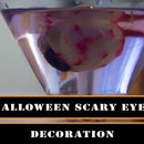 Halloween - how to make scary eye as a room decor