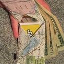 Paper Map Wallet