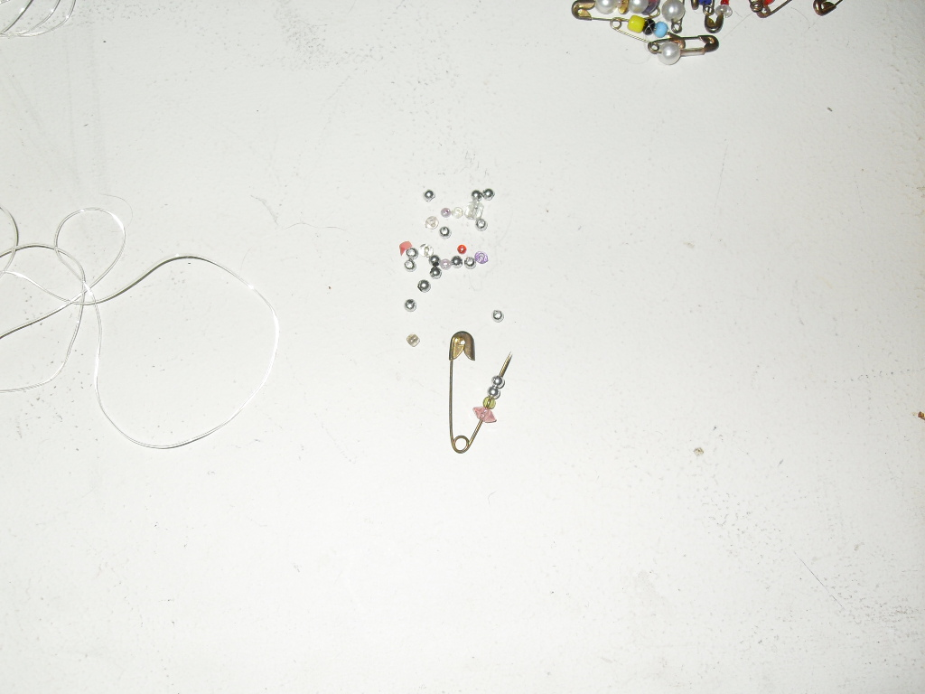 Picture of Beads Onto the Pins