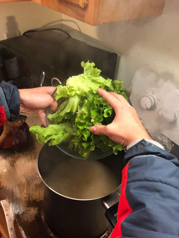 Picture of Cooking Procedure - Drop Lettuce