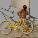 The Sail Bike, a two person sailing bicycle