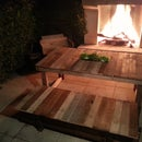 Upcycled outdoor furniture set