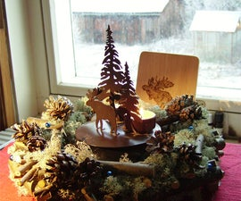 Christmas /winter Wreath Low Cost and Easy