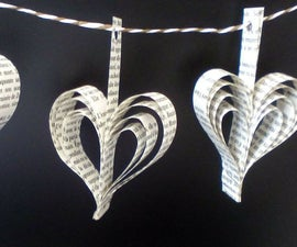Heart Book Paper Garlands