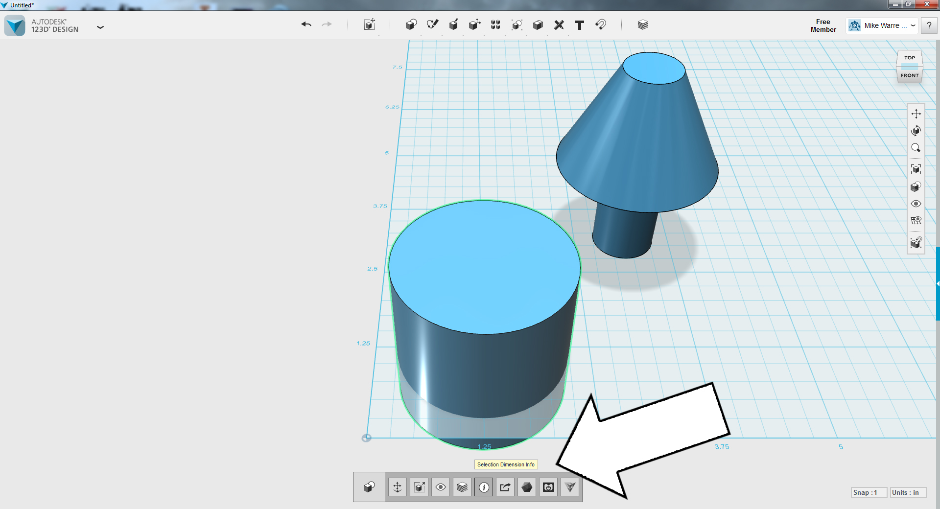 Picture of TinkerCAD - Scale Lamp Part 1 (reference Cylinder Size)