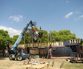 Southern California Renaissance Faire Front Gate 120'  Wrecked Ship