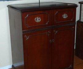 Entertainment Center From 1954 TV Cabinet