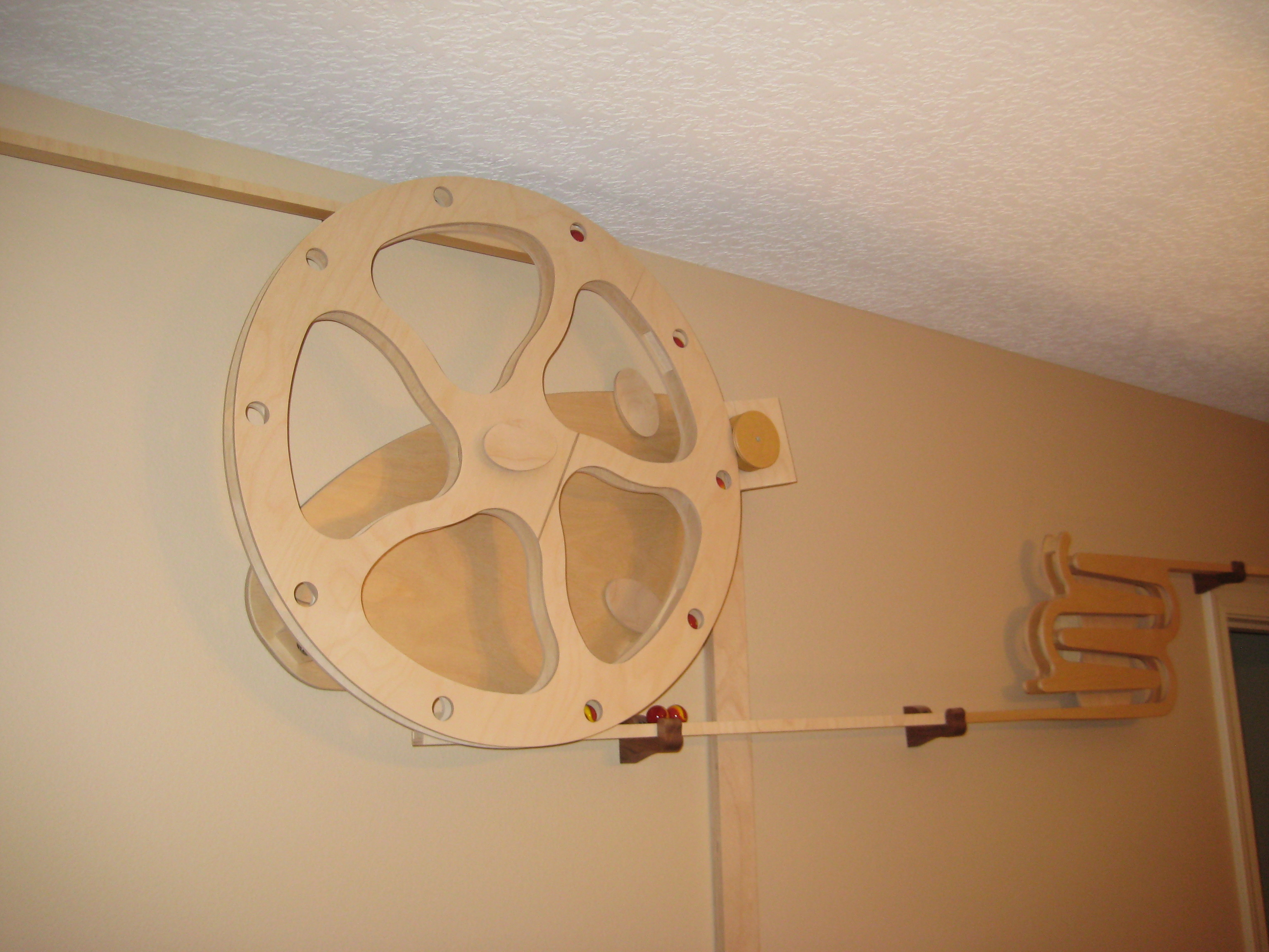 Picture of Kinetic Marble Track Around the Top of a Room