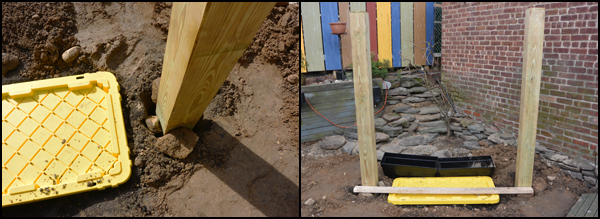 Picture of Dig Holes for Beams and Water Container – Check for Proper Fit