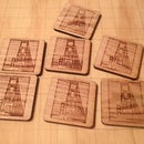 Oak Coaster with personalized Image (Laser Cut)