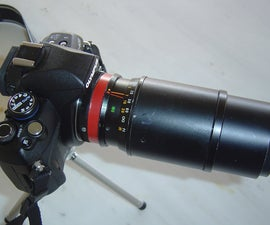 How to repair a zoom telephoto lens and mount it on your DSLR camera