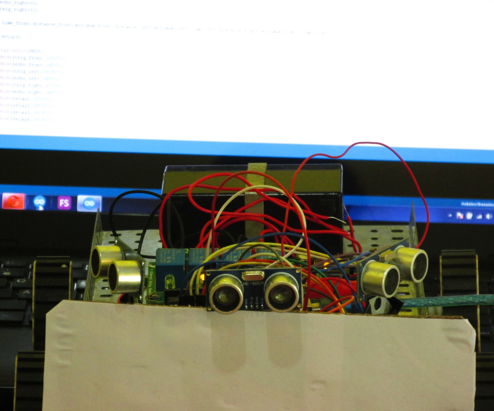 Obstacle Avoiding Robot Using Ultrasonic Sensors 9 Steps With 8 Pin Relay Wiring Diagram Normally Open 1 3 Pictures