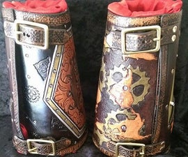 Hand Tooled Leather Bracer