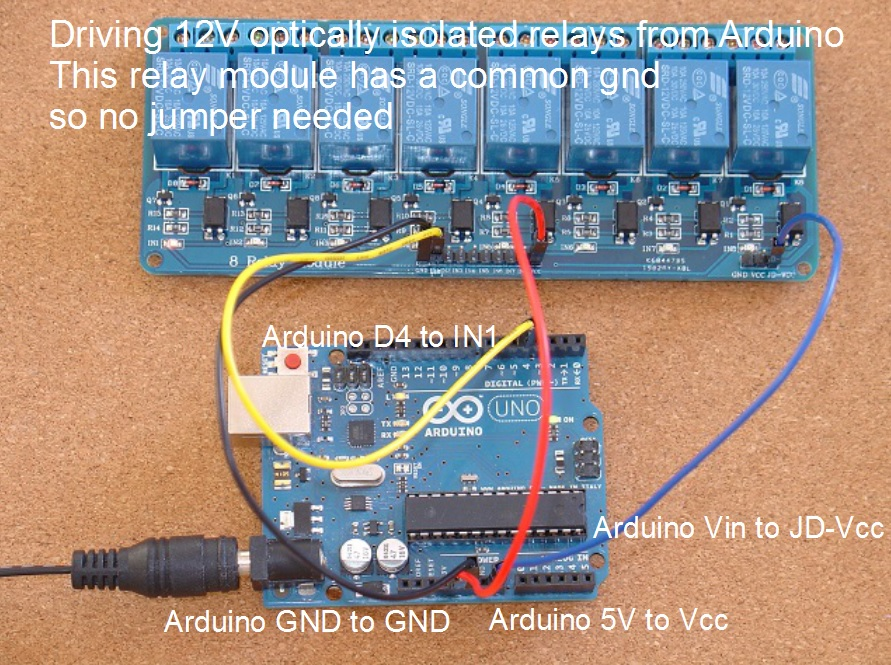 home automation how to add relays to arduino 9 steps rh instructables com Arduino 5V Relay Wiring 8 channel relay board arduino wiring