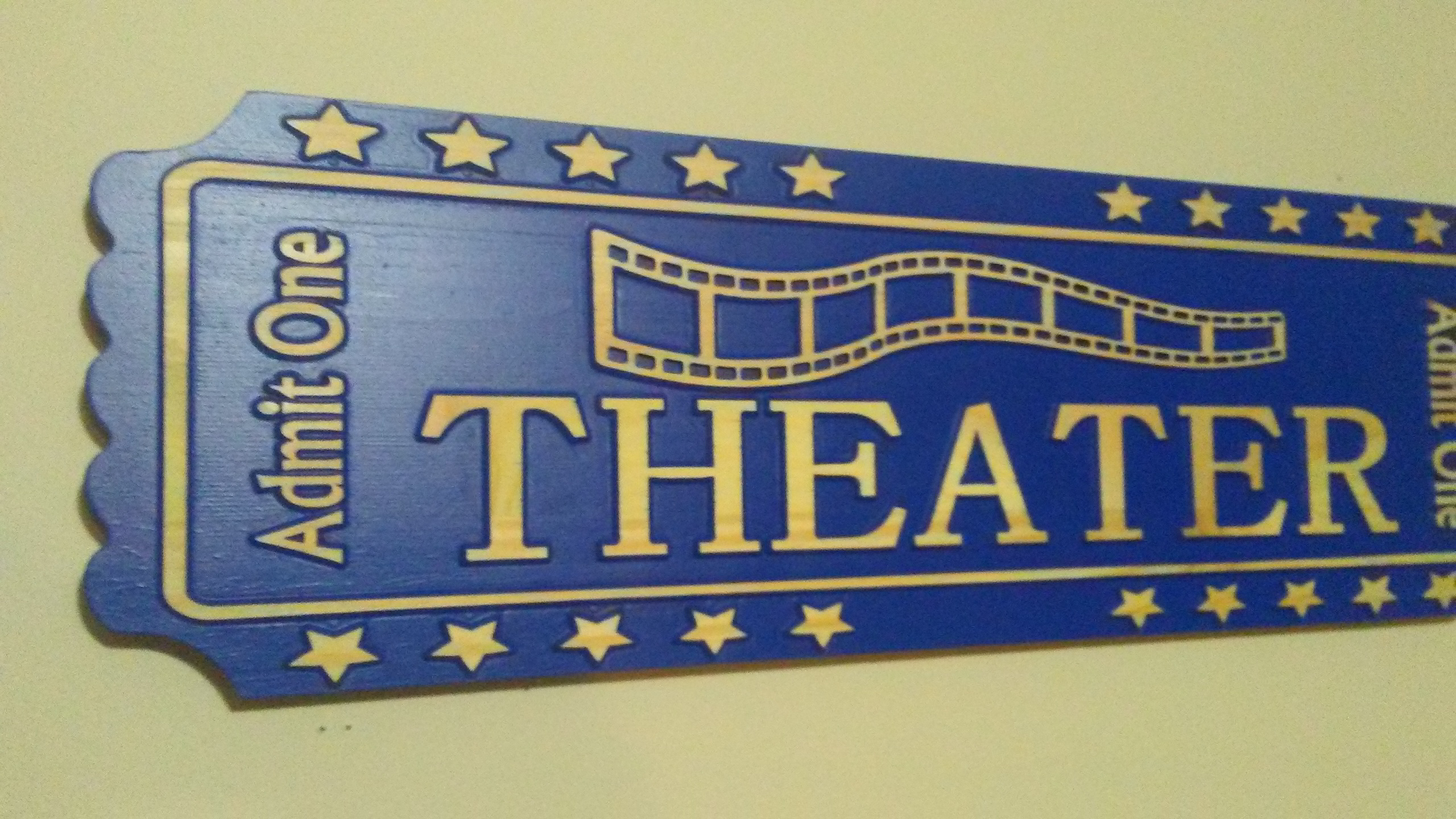 Picture of Giant Movie Ticket Sign